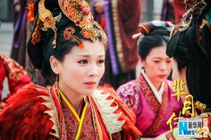 Still from the 81-episode historical epic The Legend of Miyue   http://www.chinaentertainmentnews.com/2015/12/stills-from-tv-series-legend-of-miyue.html