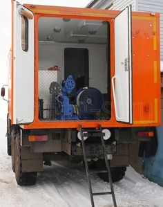 Лаборатория исследования скважин на базе КамАЗ 43114 для проведения геофизических исследований с помощью глубинных приборов спускаемых на канатной проволоке. http://www.ecolite-st.ru/kamaz-43114.html