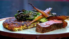 Bøf med pommes rösti og pandegrønt