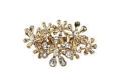 Amrita Singh Floral Burst Statement Two Finger Ring, Golden ** For more information, visit image link.