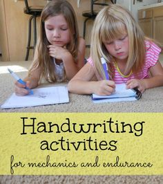 great list of handwriting activities for kids #BICFightForYourWrite #ad