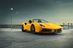 The company Novitec Rosso has released a tuning for the Ferrari 488 Spider model. A set of specially designed parts can be replaced on the model 488 GTB. Ferrari 488, Cool Sports Cars, Super Sport Cars, Luxury Car Rental, Luxury Cars, Supercars, 488 Gtb, Forged Wheels, Sleep