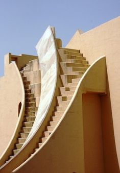 Curved Steps, Jantar Mantar - India by Eva