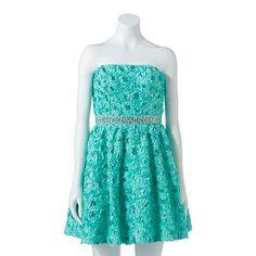 Lily Rose Floral Sequin Dress - Juniors