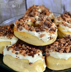 Gourdough's Copycat Bring the Heath Donuts | Yum! Try these donuts tonight for dinner!!