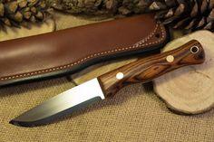 Custom Bushcraft Knife - Explorer Model - Ironwood handle. www.adventuresworn.com
