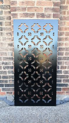 Aluminum decorative panel for privacy screening, fencing panel or simply for hanging on a wall for some added decor. The Watered Edge specializes