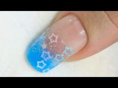 This reminds me of Sanrio's Twin Stars characters: Art Spangles Encased into an Acrylic Nail Tutorial Video by Naio Nails.
