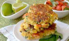The sweet corn pops against soft centers and crisp exteriors. With a twist of Thai, coconut milk, scallions and Thai basil give the fritters a flavor boost.