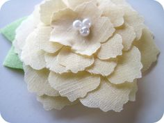 homemade by jill: Flower Hair Clip Tutorial with Silhouette Fabric Interfacing