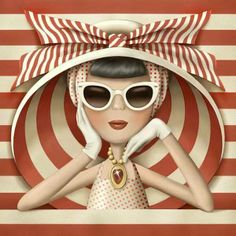 Nina de San, one of her wonderful women. Art by Nina de San. Art And Illustration, Illustrations, Decoupage, Art Fantaisiste, Art Mignon, Arte Sketchbook, Whimsical Art, Zine, Cute Art