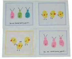 Cute Easter ideas. Love the bunny fingerprints.