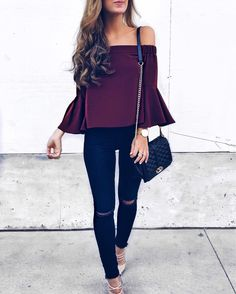 Bell sleeves and off le shoulder  obsessed w/ this top + these lace-up kicks are on sale, babes    http://liketk.it/2q3au @liketoknow.it