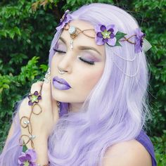Hey, I found this really awesome Etsy listing at https://www.etsy.com/listing/245314469/purple-and-lilac-elven-crown