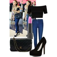 Ariana grande by nickenszaniah on Polyvore featuring polyvore, fashion, style, Miss Selfridge, Calvin Klein, Pour La Victoire and Chanel