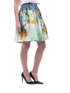 Vivienne Westwood Anglomania - flared multicolour pattern skirt -  made in Italy - ZO ET LO EASY SHOPPING WORLDWIDE EXPRESS SHIPPING