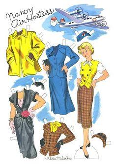 Story Parade Magazine, Paper Doll NANCY, 1950s – Hilda Miloche