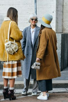Fall colours and silhouettes spotted during Fashion Week.