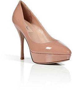 Valentino Soft Hazel Patent Leather Platform Pumps | More here: http://mylusciouslife.com/valentino-resort-2014-collection/