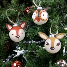 Cute rustic animal woodland crature ornament ideas - DIY home made handmade…