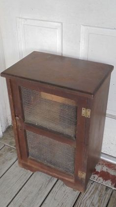 Small Wood One Shelf Vintage Pie Safe
