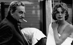 Luchino Visconti and Bjorn Andresen on Death in Venice, 1971 (set of the movie in Lido di Venezia, 1970)