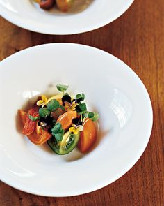 An heirloom tomato salad is perfect for a summer wedding