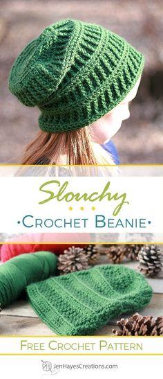 Chevron Peaks Slouch Crochet Pattern - #HatNotHate | CRAFTS ...