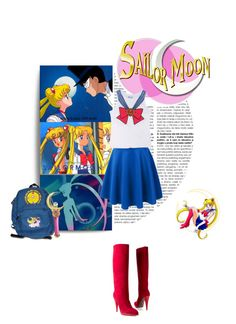 """""""Sailor Moon"""" by francescar ❤ liked on Polyvore"""