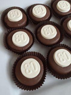 80th Birthday Party Candy Favors!!! Milk Chocolate Oreo Cookies... Eighty year old... Eightieth Celebration www.rosebudchocolates.com