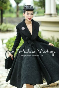 Aliexpress.com : Buy Le Palais Vintage elegant retro 100% wool Lapel waist skirt type woolen coat from Reliable coat shoe suppliers on Vintage Palace