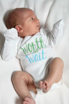 Worth The Wait Long Sleeve Baby Onesie | eBay