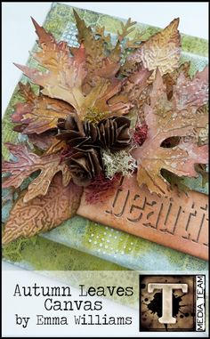 Autumn Leaves Canvas by Emma Williams | www.timholtz.com http://timholtz.com/autumn-leaves-canvas/