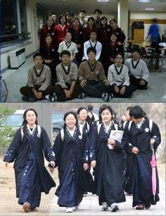 Đồng phục học sinh dưới trang phục truyền thống http://www.toiyeuhanquoc.com/kham-pha-cac-kieu-dong-phuc-cua-hoc-sinh-han-quoc/