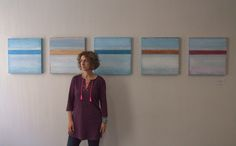 Pentaptych commission for 23 Essex Street Chambers and Corker Binning:  oil on wooden panels by Liz Jameson