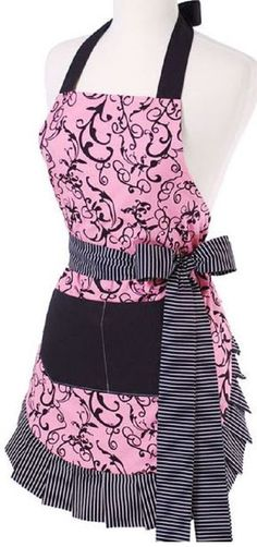 "Children's Vintage Kitchen Apron ""Original Chic Pink"" by Flirty Aprons #FlirtyAprons"