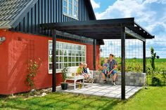 30 gode tips til deg som skal legge belegningsstein Modern Porch, Garden Gadgets, Wooden Ceilings, Backyard, Patio, Lounges, Stepping Stones, Summer Time, Terrace