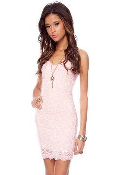 pink dress slim