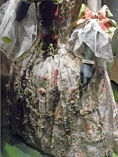 Detail of 1760s gown, part of the Pleasure Gardens Exhibit, [by charleygirl_77, via Flickr]