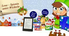 Tägliche Gewinnchancen, darunter 4 x 1 eBook-Reader, tolle Markenprodukte von Henkel und jeden Tag ein neues Kapitel von Lenas Abenteuern am Nordpol.