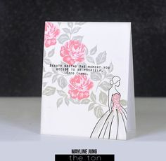 The Ton Fresh Cut Roses and Haute Wedding Dress card