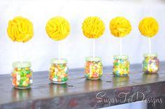 baby jar topiary by sugar tot designs