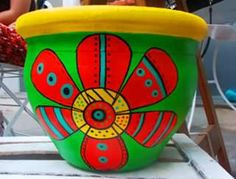 0 Clay Pot Projects, Clay Pot Crafts, Diy And Crafts, Painted Clay Pots, Painted Flower Pots, Ceramic Pots, Terracotta Pots, Pottery Painting, Ceramic Painting
