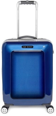 342ea1a432794a Ted Baker London Small Herringbone Rolling Suitcase (22 Inch) Suitcases Uk