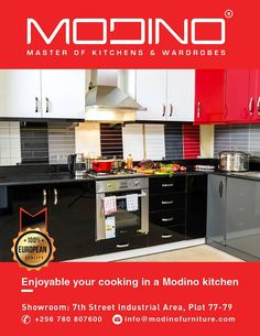 The heart of a happy home belongs in the kitchen. Visit our showroom on Plot 77/79 7th street Industrial Area. #kitchen
