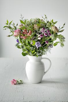 Our pitchers are great for vases for a beautiful bouquet like this