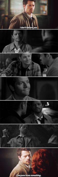 Dean + Castiel: Some things we learn from experience. #spn #destiel