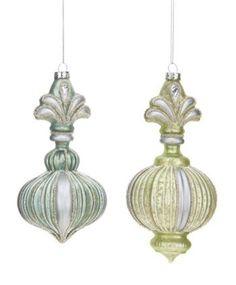 Florentine Finial Ornaments - Mint