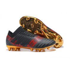 72e62681bf5 Buy Adidas Nemeziz 17+360 Agility FG Soccer Cleats - Black Gold Red. Cheap  football shoes ...
