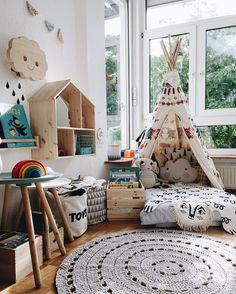 You can turn your playroom tipi into an outdoor playhouse for … – Kids Fashion Kids Corner, Reading Corner Kids, Toy Corner, Deco Kids, Kids Room Design, Kid Spaces, Kids Decor, Decor Ideas, Play Houses